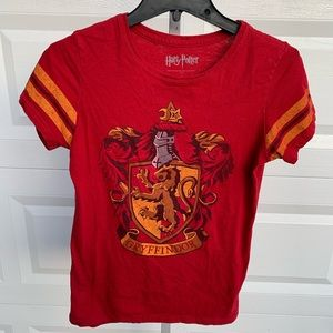 Harry Potter red shirt with gryffinfor on back